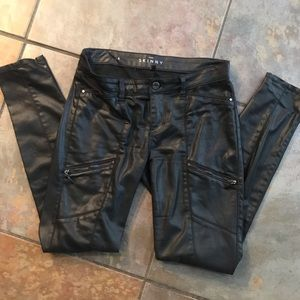 White House black Market leather skinny jeans